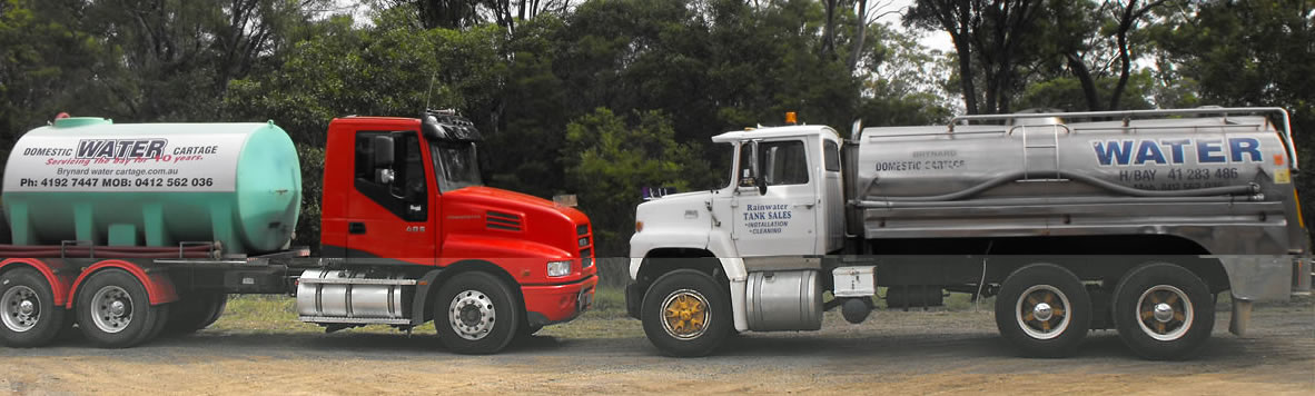 Water cartage by Brynard, Hervey Bay